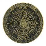 belt buckle, Aztec Mayan Calendar bronze color