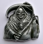 belt buckle, Reaper Skull Evil Punisher Skeleton